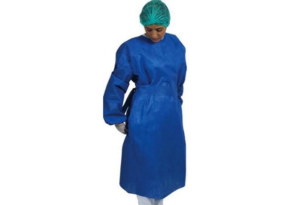 avental cirurgico azul
